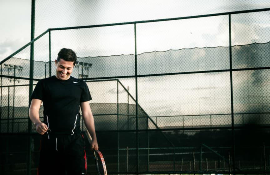 practice tennis alone