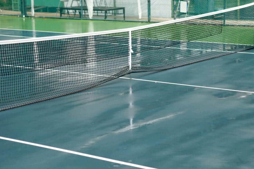 Tennis in the Rain