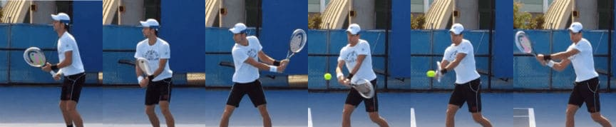 two-handed backhand stroke